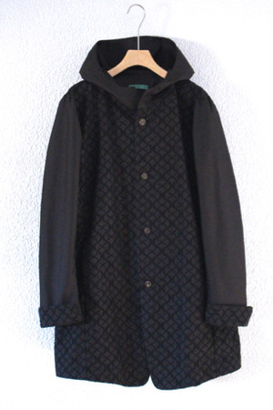 black embroidery coat / ohta