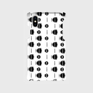 excellent ドクロ iPhone X/XS 側表面印刷スマホケース iPhone X/XS ツヤ有り(コート)