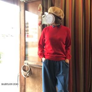 Porter des boutonsのスカラップ畝編み 衿付きニット