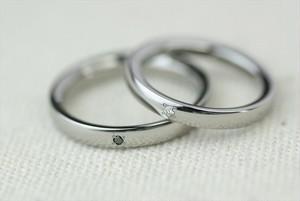 ジルコニウム結婚指輪 素心 1石 <No1>
