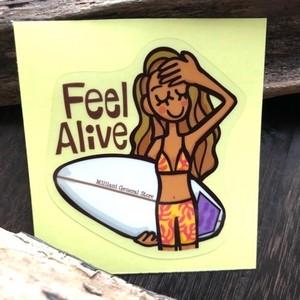 防水ステッカー Feel Alive