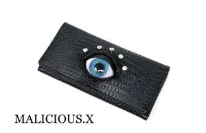 eye wallet / blue(crocodile)