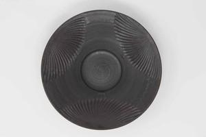 【受注生産対応】黒釉8寸パスタ皿 クバ紋様3柄