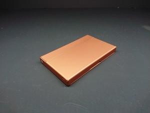 アルミニウム製名刺カードケース マットオレンジ色