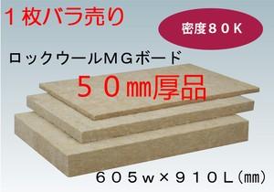 吸音材1枚バラ売り ロックウール ボード品  厚み50ミリ 605ミリx910ミリ