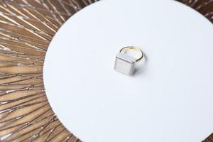 220-r ホワイトゴールド使用!伝統文化品美濃焼多治見四角タイル指輪・リング(フリーサイズ) ゴールドリーズ007※証明書付 135