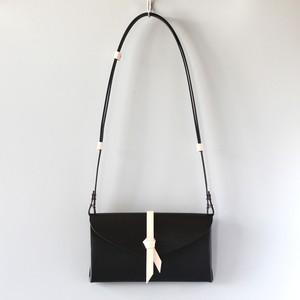 折りショルダーウォレット #黒xベージュ / ori shoulder wallet #black x beige 長財布