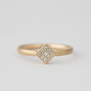 K10イエローゴールド ダイヤモンドリング