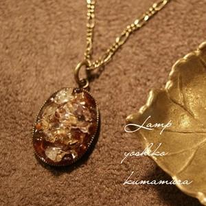 天然石 ガーネット Mix ・ Resin Necklace ネックレス/NRD-6