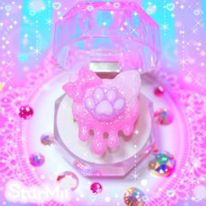 メルティねこちゃん肉球リング♪(ピンク☆パープル)
