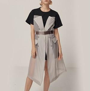 See-through layered dress シースルー レイヤード ワンピース