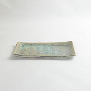 天平の甍 長角皿 大堀焼京月窯