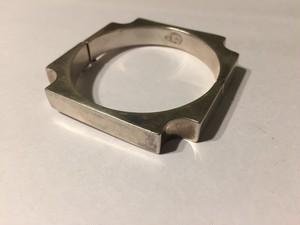 Vintage mid-century 925 Silver square bangle ( ヴィンテージ  シルバー スクウェア バングル )