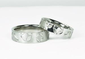 結婚指輪 七宝柄【散し】和風マリッジリング