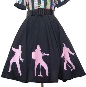 【セミオーダー】Elvis R&R Skirt ✴︎Black✴︎