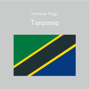 国旗ステッカー タンザニア