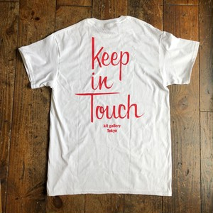 (受注) kit TEE (WHITE x RED)