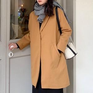 【アウター】韓国シンプルファッションスウェートエレガントコート25517507