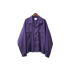 yotsuba - Open Collar Shirt / Purple ¥18000+tax