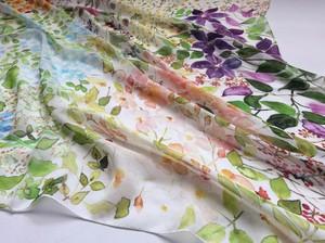 シルクスカーフ「garden」