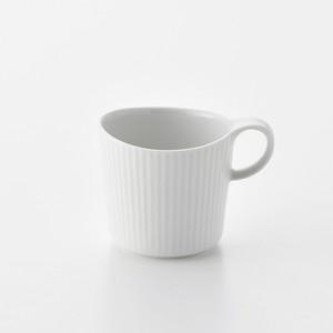 線彫 白マット マグカップ大