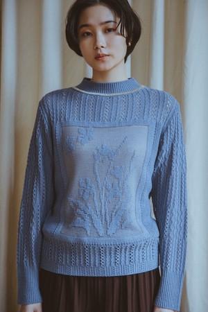 【予約】YUKISHIMANE Violet Jacquard Sweater
