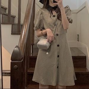 check design collar dress