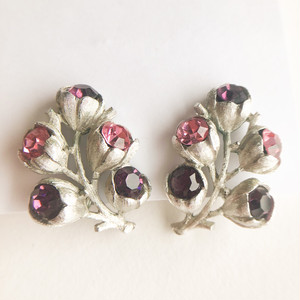 """""""Sarah Coventry"""" Wisteria earring[e-1339] ヴィンテージイヤリング"""