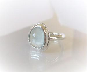ローズカットアクアマリンの指輪