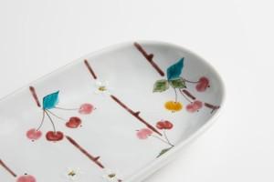 お届けは1月20日頃となります。 九谷フェス 長丸皿 姫りんごSALE-6