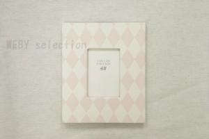 【H&M HOME】 フォトフレーム ピンク