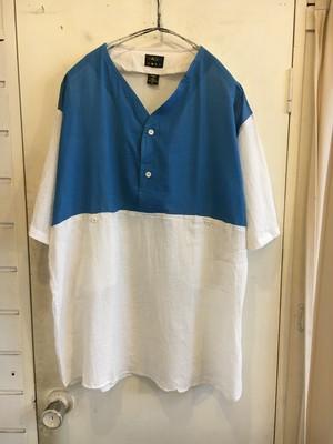 2tone cotton gauze pullover shirts
