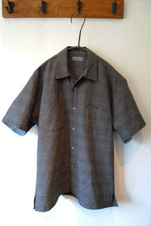 I sh-14 Lin/co gray check carribean shirts