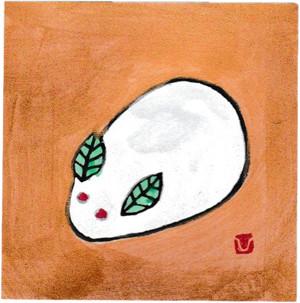 小版画/1月 雪うさぎ