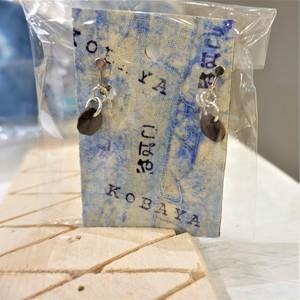藍染こば屋 / コーヒー豆型イヤリング・ピアス