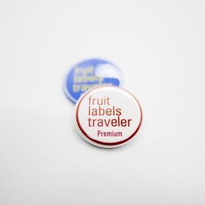 フルーツ・レーベル・トラヴェラー|Fruit Labels Traveler|缶バッジ  32mm