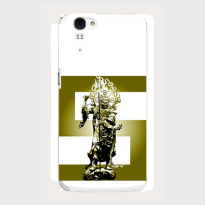 【AQUOS PHONE ZETA (SH-01F)】 増長天 (ゴールド) 側表面印刷スマホケース AQUOS PHONE ZETA(SH-01F)ツヤ有り(コート)