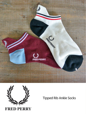 FRED PERRY フレッドペリー Tipped Rib Ankle Socks