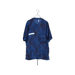 HUMIS CHEMICAL NO-COLLAR SHORT-SLEEVE SHIRT / M-SH1303