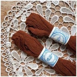 糸 ウール ブラウン 2本セット デッドストック メルスリー