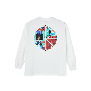 POLAR SKATE CO / MOTH HOUSE FILL LOGO LONGSLEEVE -WHITE-