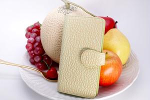 牛革製・クラウンメロンなスマホケース(Lサイズ)iPhone Plusほか多機種対応/静岡クラウンメロンコラボ