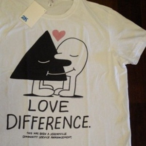 "2K BY GINGHAM/ツーケイバイギンガム | 【超特価SALE!!! 50%OFF】 "" LOVE DIFFERENCE "" T-Shirt"