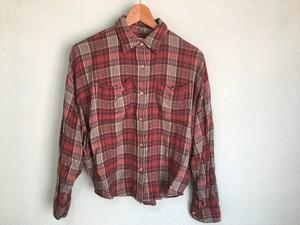 ラルフローレン Ralph Lauren DENIM&supply デニムサプライ ショート丈 チェックシャツ XS