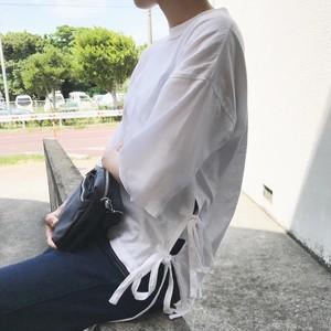 サイドレースアップカットソー【&mode】