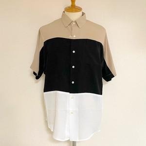 Bamboo Dolman Sleeve Switch Shirts MixB(Beige*Black*White)