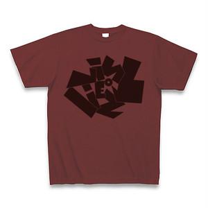 Vinyliez (バイナリーズ) ロゴTシャツ <カラー:バーガンディ、サイズ:S~XL>