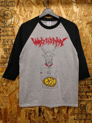 """Pizza delivery baphomet"" ラグランT-shirt"