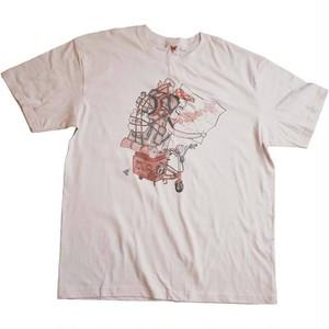 地図男 4.3oz Tシャツ(ホワイト)