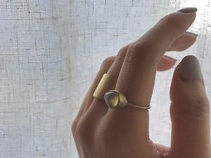 Golden Zircon Drop ring
